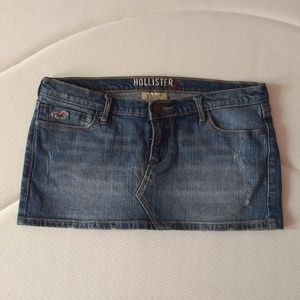 Hollister Denim Mini skirt. Circa mid 2000s.
